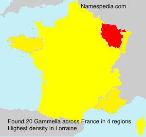 Surname Gammella in France