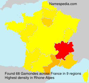 Surname Gamondes in France