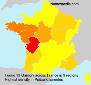 Surname Gamory in France