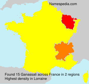 Surname Ganassali in France