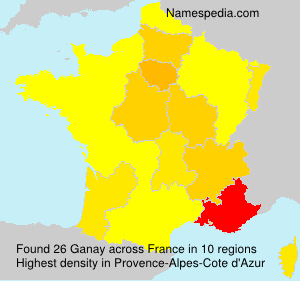 Surname Ganay in France