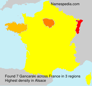 Surname Gancarski in France