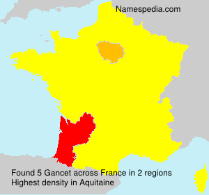Surname Gancet in France