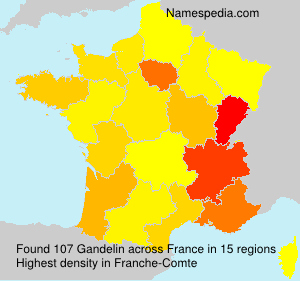 Surname Gandelin in France