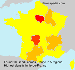 Surname Gandji in France