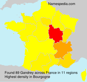 Surname Gandrey in France