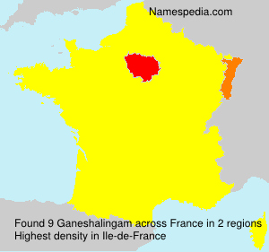 Surname Ganeshalingam in France