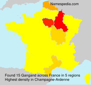 Surname Gangand in France