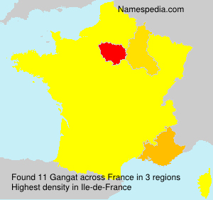 Surname Gangat in France