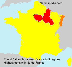 Surname Gangbo in France