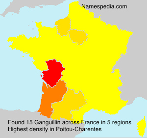 Surname Ganguillin in France