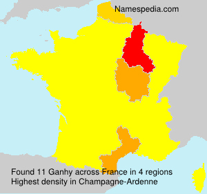 Surname Ganhy in France
