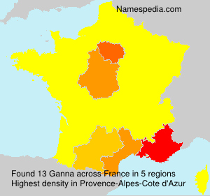 Surname Ganna in France