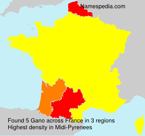 Surname Gano in France