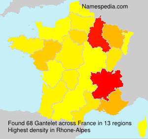 Surname Gantelet in France