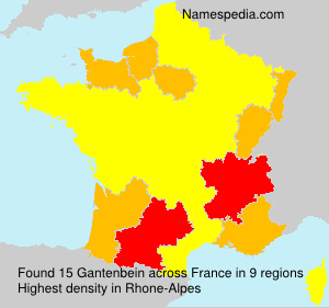 Surname Gantenbein in France