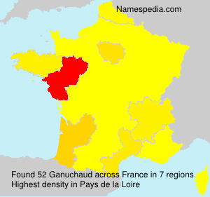 Surname Ganuchaud in France
