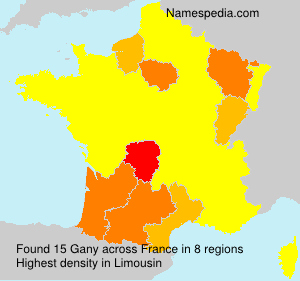 Surname Gany in France