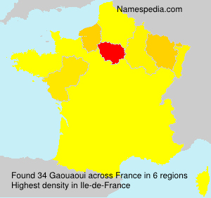 Surname Gaouaoui in France