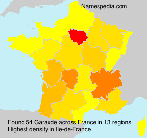 Surname Garaude in France