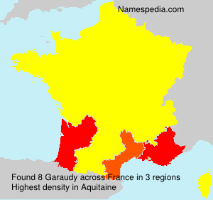 Surname Garaudy in France
