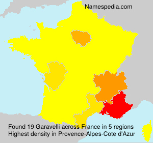 Surname Garavelli in France