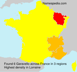 Surname Garavello in France