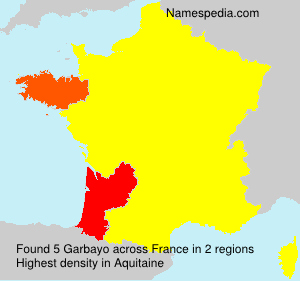Surname Garbayo in France