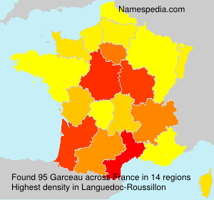 Surname Garceau in France