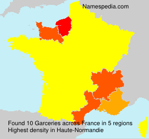 Surname Garceries in France