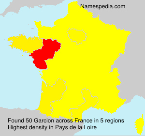 Surname Garcion in France