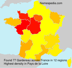 Surname Gardereau in France