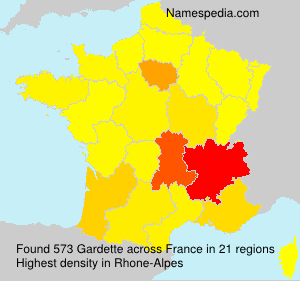 Surname Gardette in France