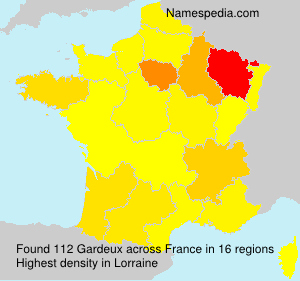 Surname Gardeux in France