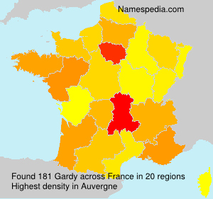 Surname Gardy in France