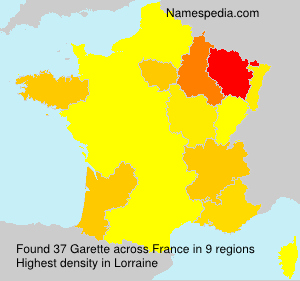 Surname Garette in France