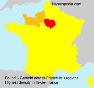 Surname Garfield in France