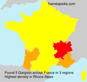 Surname Gargiolo in France