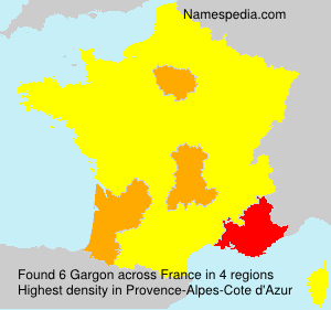 Surname Gargon in France