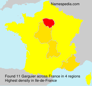 Surname Garguier in France