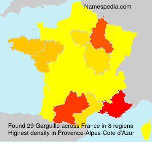 Surname Garguillo in France
