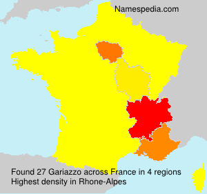 Surname Gariazzo in France