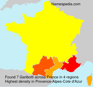 Surname Garibotti in France