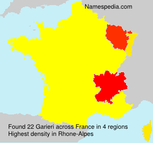 Surname Garieri in France