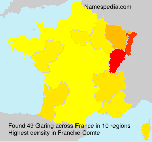 Surname Garing in France