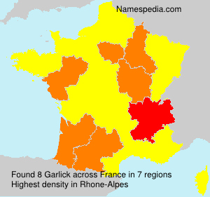 Surname Garlick in France