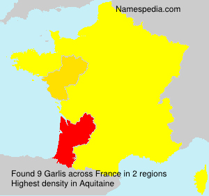Surname Garlis in France