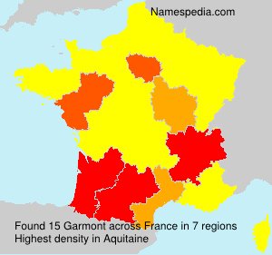 Surname Garmont in France