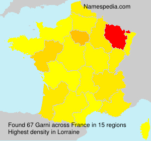 Surname Garni in France
