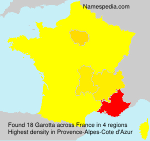 Surname Garotta in France